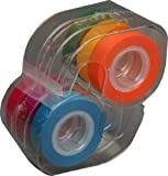 Lee Removable Highlighter Tape, 1 Roll of Each of 6 Fluorescent Colors, 1/2-Inch Wide with Dispenser (19188)