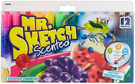 12 Pack Mr. Sketch Assorted Scent Markers