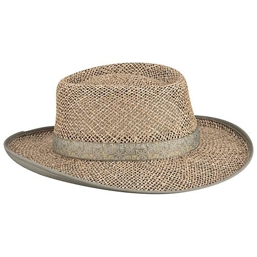 Columbia Sportswear Men's Livin' Large Straw Hat, Fossil/Compass, Small/Medium