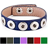 Morella® Damen Armband für SMALL Click-Button Druckknopf 12 mm Ø // in verschiedenen Farben wählbar