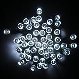 Lightahead® LED Solar Fairy string lights, 22 meter (72 feet) Solar powered 200 LED lights for Outdoors, Home, Weddings, Party's,Christmas & other festivals (WHITE)