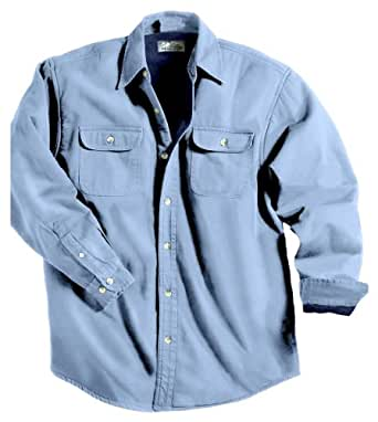 Tahoe Denim Shirt Jacket with Fleece Lining, Color: Light Indigo/Navy, Size: X-Small