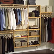 John Louis Home JLH-522 Standard 12-Inch Depth Closet Shelving System, Honey Maple