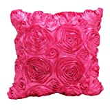 'Hit Hot Pretty Satin Rose of Pink (Single) 1 Thai Satin Throw Pillow Cover