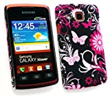 Emartbuy® Samsung S5690 Galaxy Xcover Pink Garden Clip On Protection Case/Cover/Skin
