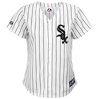 Majestic Ladies Plus Size Chicago White Sox Replica Jersey by Majestic