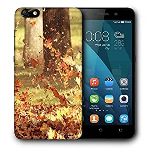 Snoogg Blowing Leaves Printed Protective Phone Back Case Cover For Huawei Honor 4X