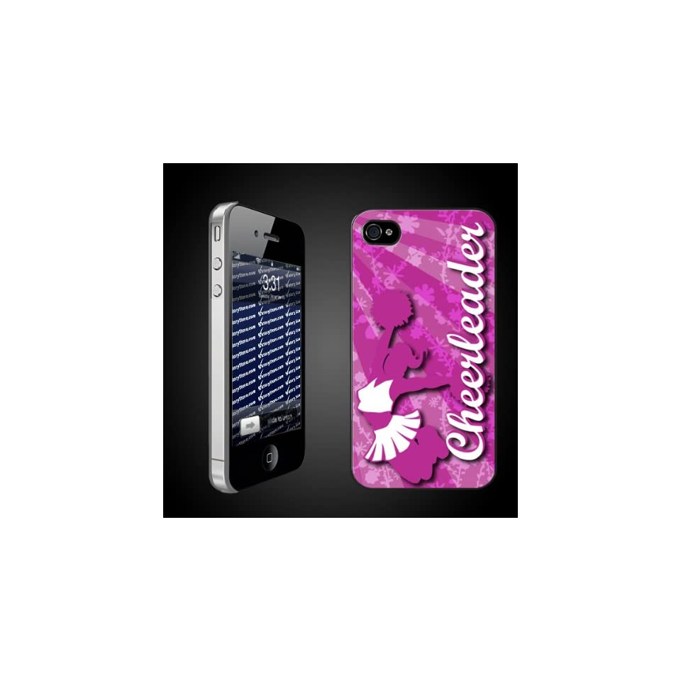Cheerleading Theme iPhone Hard Case Chearleader   CLEAR Protective for iPhone 4/4s