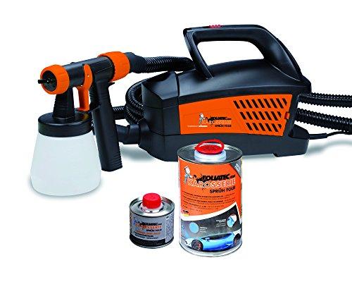 Foliatec-FT-20700-Spray-System-Pistolet-de-Peinture-Compresseur-Noir-Mat-12-m-Tube-900-ml-plus-100-ml-Diluant