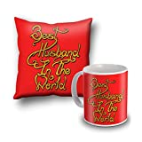 Best Husband In The World Cushion Cover And Coffee Mug Combo