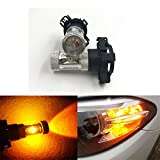 GFJMC 2 PCS Canbus Error Free PY24W 30W CREE LED Bulbs For Front Turn Signal Light Bulbs, Amber Yellow