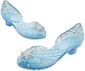 Disney Store Frozen Princess Elsa Light-Up Shoes/Costume Slippers Size 11/12
