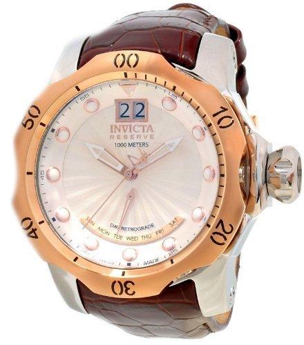 Invicta 1592 Reserve Men's Venom Swiss Made Quartz Leather Strap Watch
