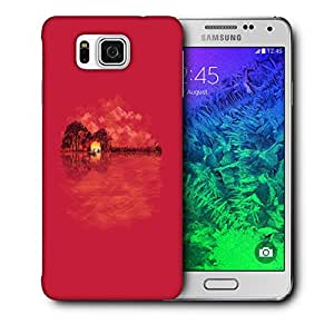 Snoogg Guitar Island Designer Protective Back Case Cover For Samsung Galaxy Alpha
