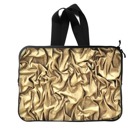 Fashion Shine Bling Golden 13 Inch Laptop Sleeve Bag With Hidden Handle For Laptop / Notebook / Ultrabook / Macbook front-24993