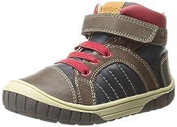 Geox B Omar Boy 4 Sneaker (Toddler), Dark Navy/Coffee, 21 EU (5.5 M US Toddler)