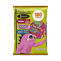 HERSHEY\'S Halloween Snack Size Assortment (48-Ounce Bag, 180 Pieces)