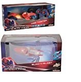 Spider-Man BUNDLE Slam n Blast Launcher & Web Twister Stunt Car R/C 2 Items