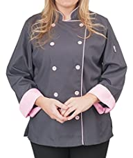 Womens Long Sleeve Active Chef Coat