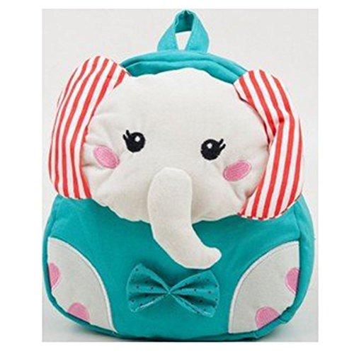 Nette Kinder Cartoon Tier Elephant Umhängetasche Schulrucksäcke Kindergarten Schule Rucksäcke Kindergartentaschen(blau)
