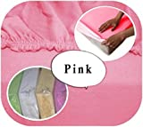 Baby Crib JERSEY Fitted Sheet 90x40cm 100 Cotton Pink