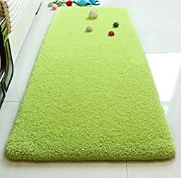 Supersoft Thicken High-end hair Carpet Bedroom room floor mats Bedside carpet Windows and carpet Mats Couch couch cushion Apple green