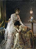 'Alfred Stevens-After The Ball,1874' Oil Painting, 30x41 Inch / 76x105 Cm ,printed On Perfect Effect Canvas ,this Vivid Art Decorative Prints On Canvas Is Perfectly Suitalbe For Bar Decor And Home Artwork And Gifts
