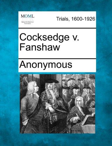 Cocksedge v. Fanshaw