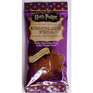 Harry Potter Milk Chocolate Frog with Collectible Wizard Trading Card 6 Packs