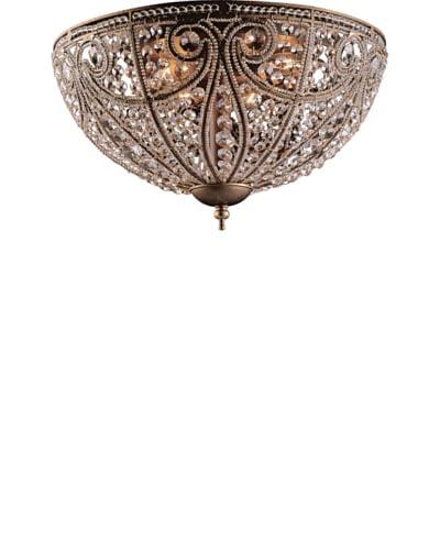 Artistic Lighting Elizabethan 6-Light Flush Mount Ceiling Fixture, Dark Bronze