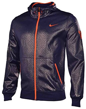 Nike Mens KOBE Hero Full Zip Basketball Hoodie-Blue by Nike