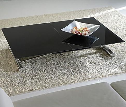 La Seggiola - Tavolo Trasformabile Lift Cristal - Piano: Cristallo Extrawhite