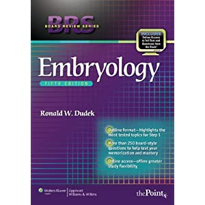 BRS Embryology (Board Review Series) Fifth (5th) Edition 2011 51fTNEoysrL._SL500_AA300_