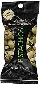 Wonderful Pistachios Roasted and Salted Pistachios,1.5 Ounce, Pack of 24.