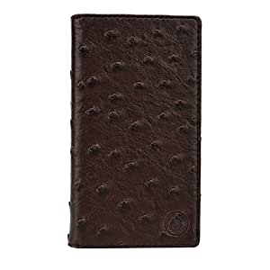Jo Jo Cover Croc Series Leather Pouch Flip Case For Sony Xperia ZL2 Brown