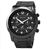 "Breda Womens 2308-Gunmetal ""Jordan"" Oversized Boyfriend Gunmetal Watch"