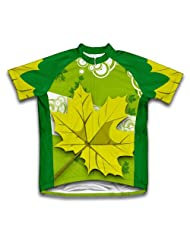 Green Fall Short Sleeve Cycling Jersey for Women