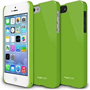 RINGKE SLIM Apple iPhone 5S Case [LF Green] SUPER SLIM + LF COATED + PERFECT FIT Premium Hard Case Cover for Apple iPhone 5 / 5S [ECO Package]