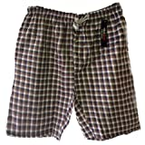 Mens Striped/Checked Shorts Woven Polycotton Spring Summer Loungewear (Small)