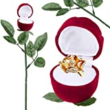 Alcoa Prime New Arrival Romantic Red Rose Engagement Wedding Ring Earrings Jewelry Saint Valentine' S Day Gift...