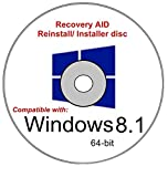 Windows 8.1 64-bit New Full Re Install Operating System Boot Disc - Repair Restore Recover DVD