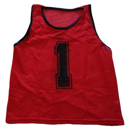 Workoutz Numbered Youth Red Scrimmage Vest Set (12 Qty) Soccer Pinnies (Blue Numbered Basketball Jersey compare prices)