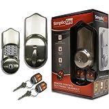 SimpliciKey SRCED-SN-2 Remote Control Electronic Deadbolt Door Lock, Satin Nickel