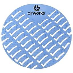 Hospeco Airworks AWUS001-BX Light Blue Eucalyptus Urinal Screen (Box of 10)