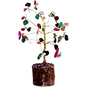 Satyamani Natural Multi Wide Crystal Tree For Seven Chakra (Very Small)