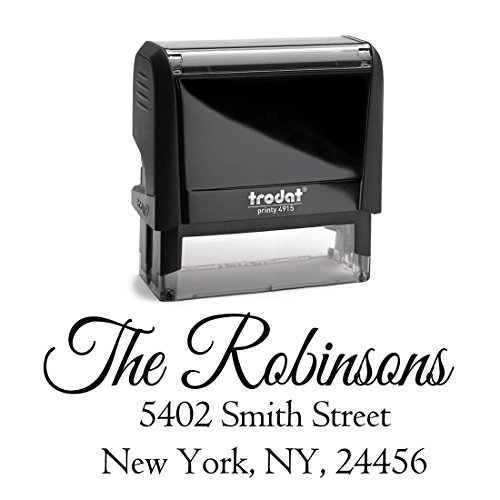 Personalized Self Inking Stamp - Return Address Stamp Customized - Custom Rubber Stamp - Housewarming Gift - Wedding Address Labels - Large 3 Lines - Family Last Name Customized Stamp (Customized Return Address Stamp compare prices)