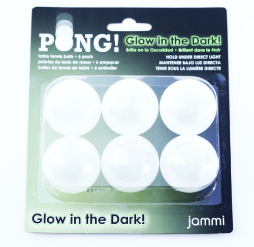 Jammi Glow Ping Pong Balls, 3-Pack (18 Ping Pong Balls) Model: