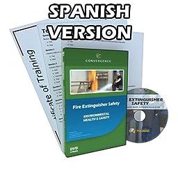 Convergence C-127-ES-US Fire Extinguisher Safety Training Program DVD, 16 minutes Time, Spanish