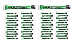 Cyalume SnapLight Light Sticks, Green, 6\
