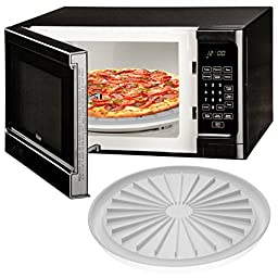 Microwave Pizza Plate Cook Bacon Sausage Meat Dishwasher Safe Round Pan Tray